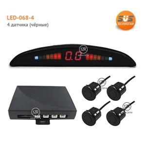 Парктроник SVS LED-068-4 (чёрные датчики)