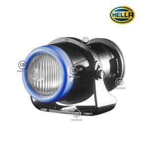 Противотуманная фара Hella Micro DE, с лампой и крепежом, синий ободок