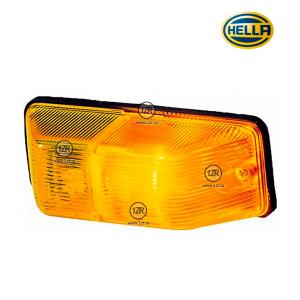 Фонарь указателя поворота Hella левый, желтый (P21W)