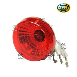 Фонарь противотуманный Hella D90, задний, со стопорным кольцом, красный (P21W)