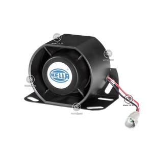 Звуковой сигнал заднего хода Hella 112dB 12/24V, 1200Hz (коннектор 2pole)