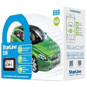 Автосигнализация StarLine E66 BT 2CAN+2LIN ECO