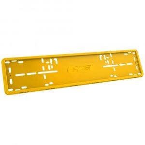 Рамка RCS силиконовая 1 рамка желтого цвета