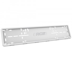 Рамка RCS силиконовая 1 рамка белого цвета