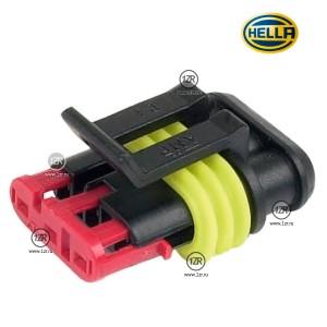Вилка Hella Superseal 3-х контактная для фар дневного света (10 шт.)