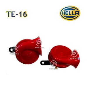 Звуковой сигнал Hella TE16 12V, 400/500Hz (с реле) красный рожок