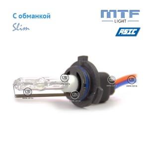 Ксенон MTF-Light Slim Line с доп. проводом и обманками H10 6000K