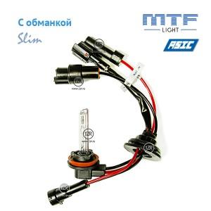 Ксенон MTF-Light Slim Line с доп. проводом и обманками H16 4300К