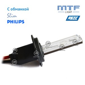 Ксенон MTF-Light Slim Line с доп. проводом, обманками и лампами Philips H7