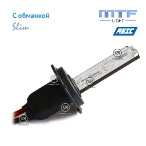 Ксенон MTF-Light Slim Line с доп. проводом и обманками H7 6000K