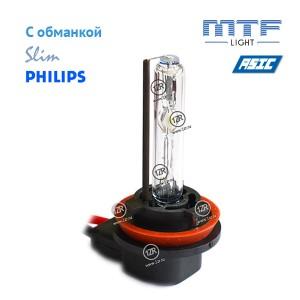 Ксенон MTF-Light Slim Line с доп. проводом, обманками и лампами Philips H8/H9/H11