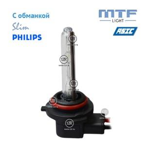 Ксенон MTF-Light Slim Line с доп. проводом, обманками и лампами Philips HB4/9006