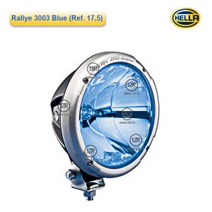 Фара дальнего света Hella Rallye 3003 FF Blue, с габаритным огнем (Ref. 17.5)