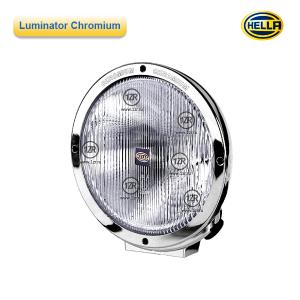 Фара дальнего света Hella Luminator Chromium, с габаритным огнем, рифленое стекло