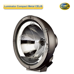 Фара дальнего света Hella Luminator Compact Metal CELIS FF, с габаритным огнем