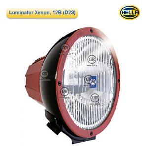 Фара дальнего света Hella Luminator Xenon, 12V, красный ободок