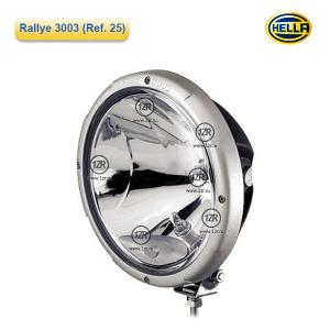 Фара дальнего света Hella Rallye 3003 FF, с габаритным огнем, прозрачная (Ref. 25)