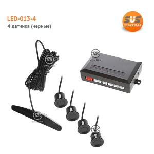 Парктроник SVS LED-013-4 (черные датчики)