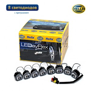 Дневные ходовые огни Hella LEDayFlex 8 с притуханием