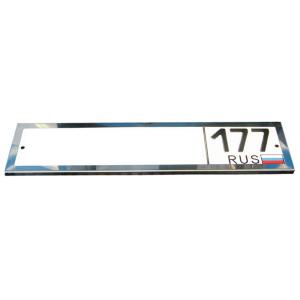 Рамка 1ZR металлическая хромированная