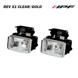 Противотуманные фары IPF-Light Rev X1 Clear/Gold Белое свечение