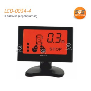 Парктроник SVS LCD-0034-4 (серебристые датчики)