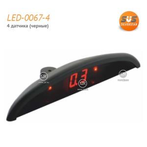 Парктроник SVS LED-0067-4 (черные датчики)
