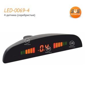 Парктроник SVS LED-0069-4 (серебряные датчики)