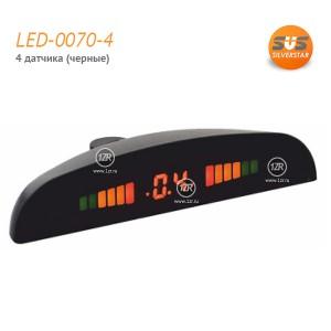 Парктроник SVS LED-0070-4 (черные датчики)